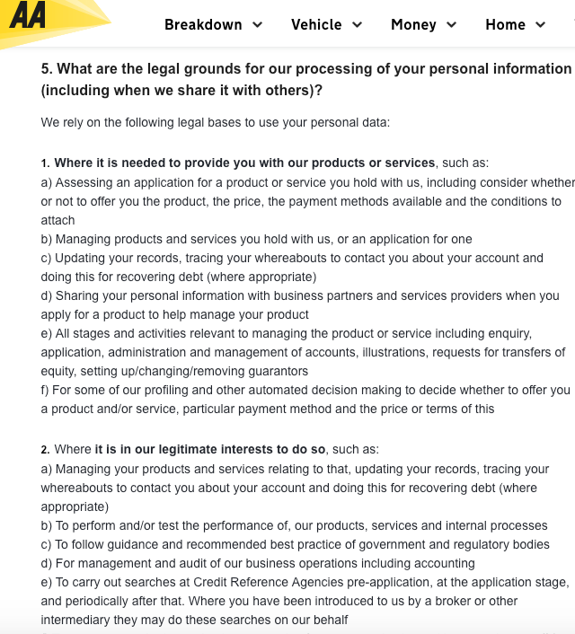 GDPR: Example privacy policies and consent forms