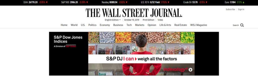 Wall Street Journal Homepage