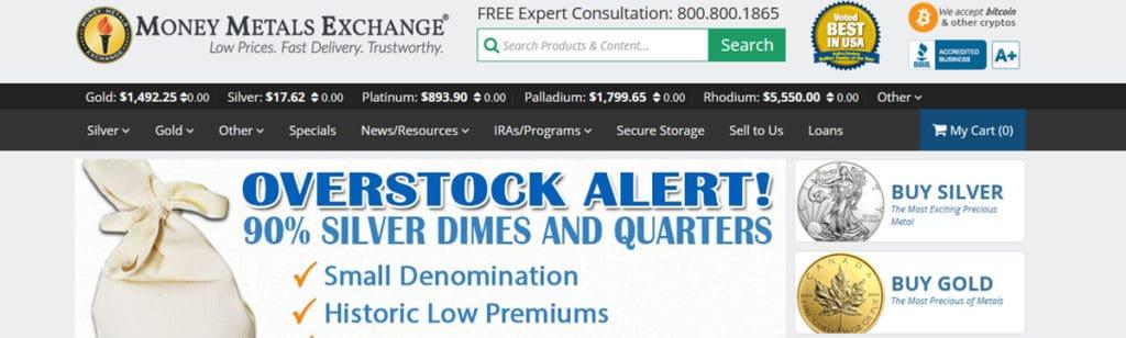 Money Metals Exchange Homepage
