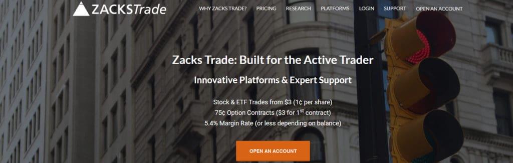 Zacks Trade Homepage