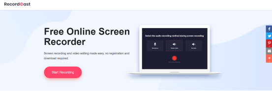 RecordCast, the Best Online Screen Recorder [Free]