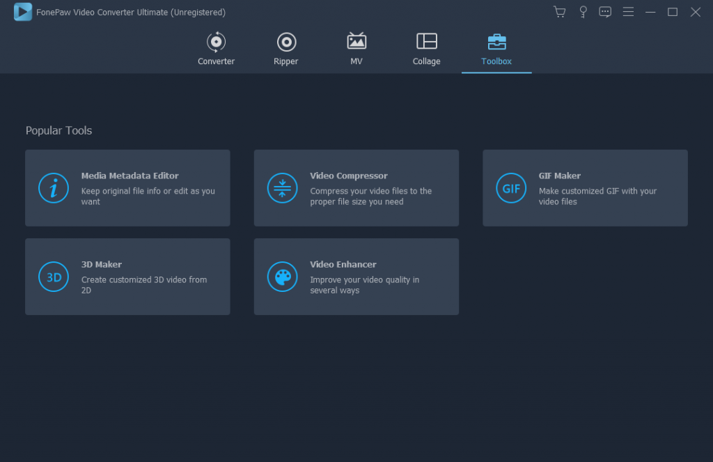 FonePaw Video Converter Ultimate Toolbox