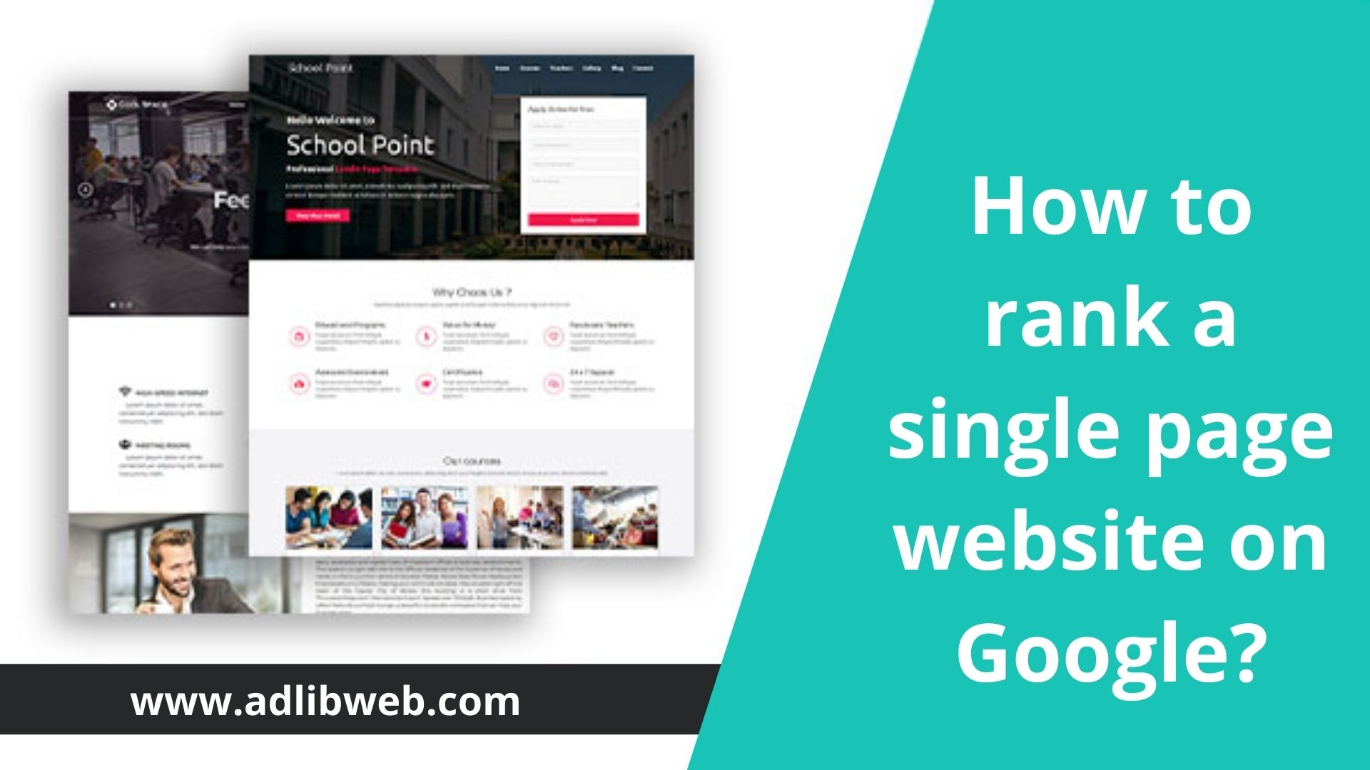 How to rank a single page website on Google?